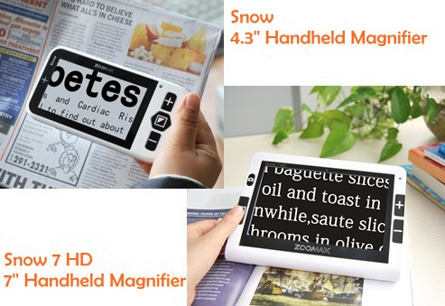 Snow 7 HD & Snow 4.3 electronic low vision aids