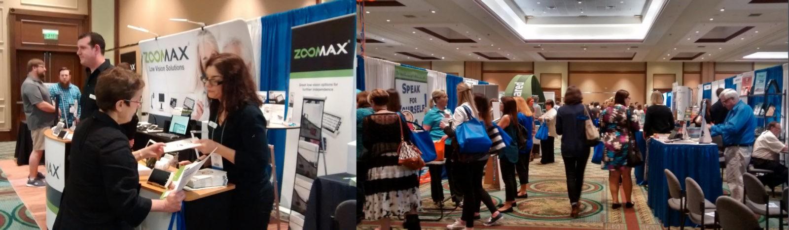 Zoomax booth and customer at ATIA