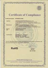 RoHS certification of Zoomax low vision aids developer