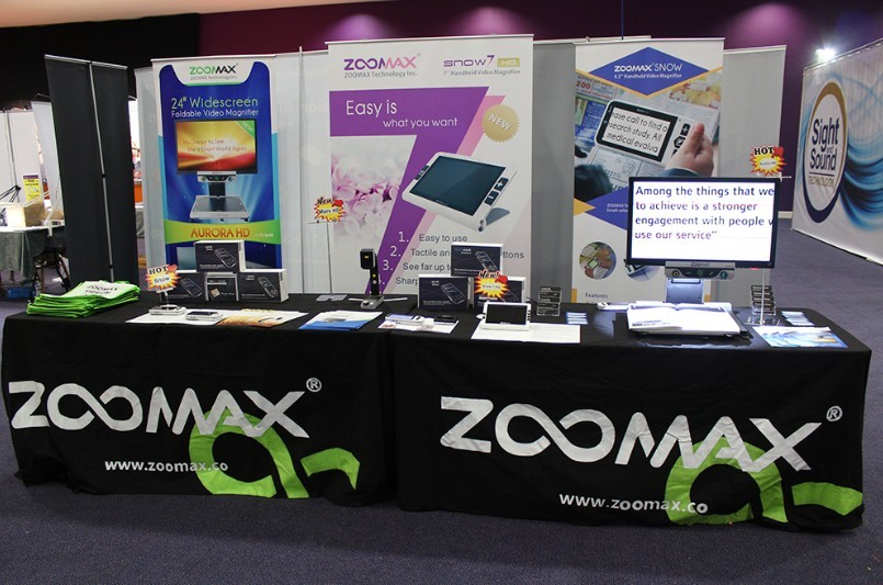 Zoomax display low vision products at 2013 SightVillage