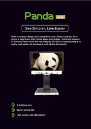 Desktop low vision aid Panda brochure cover