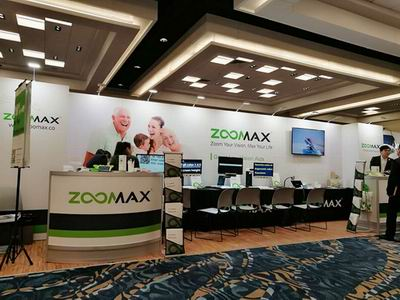 Zoomax's booth at 2017 CSUN