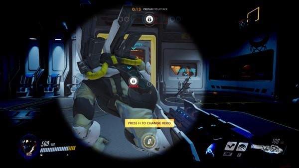 A Visual Perspective Of A Visually Impaired Game Player Of Overwatch