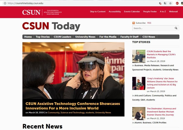 CSUN Today updated the news of CSUN conference