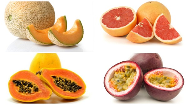 Cantaloupe Grapefruit Papaya Passion Fruit