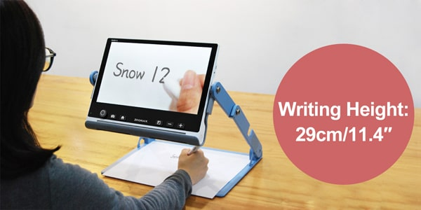 Comfortable Writing Space - Zoomax Snow 12 Video Magnifier