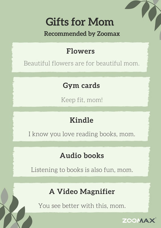 Mother's day gift list