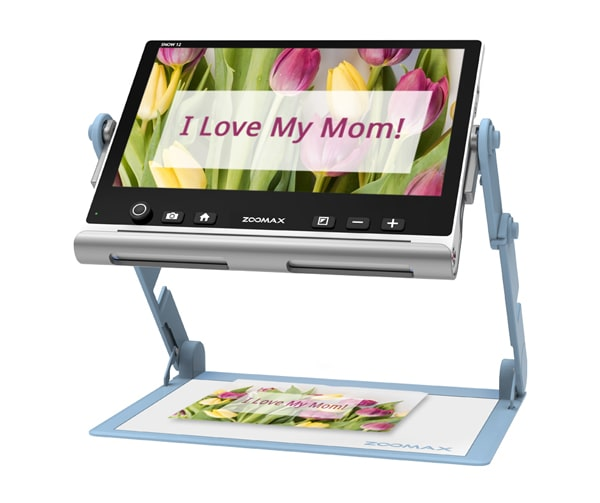 Mothers Day Zoomax Snow 12 Video Magnifier Magnifying A Lovely Card