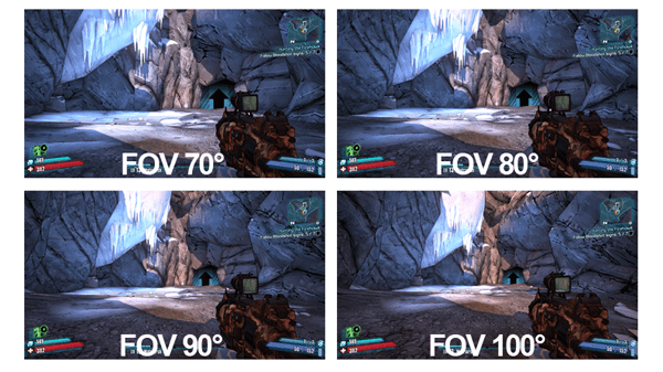 Typical Fov Comparison, Based On Scenes From Video Game