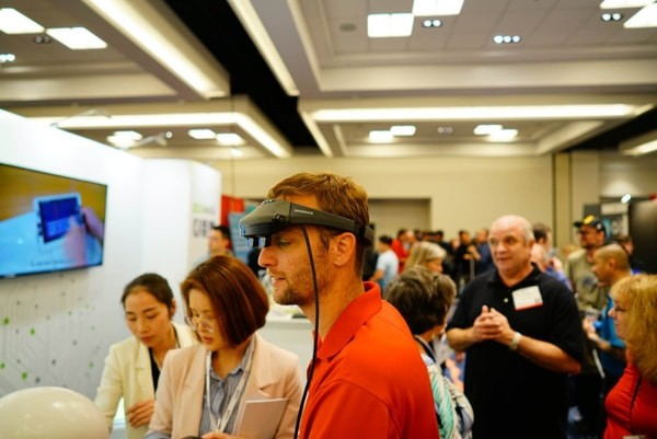 Zoomax Joined 2018 CSUN with wearable RevoSight Augmented Reality Glasses RevoSight