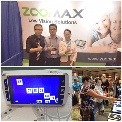 Zoomax Joined ATIA 2017 with Handheld Video Magnifier M5 HD Plus