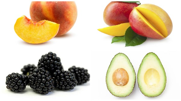 Avocado Blackberries Mango Peach