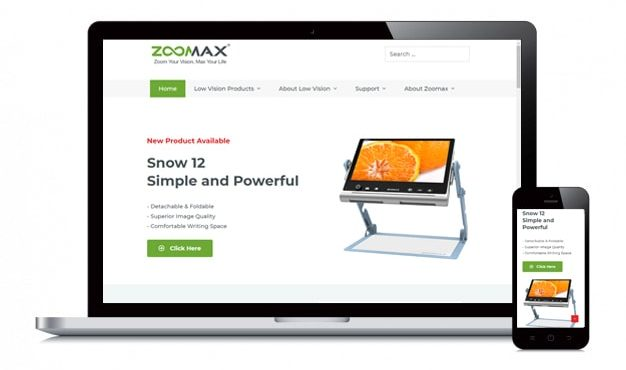 New Zoomax Website