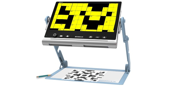 Use Portable Electronic Magnifier Snow 12 To Play Crossword Puzzle
