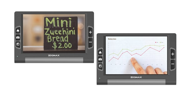 Use Luna 8 Everywhere On The Go - Zoomax Luna 8 Electronic Video Magnifier For Low Vision